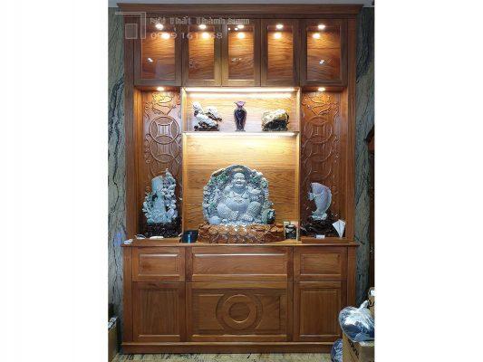 tủ trưng bày gỗ gõ đỏ