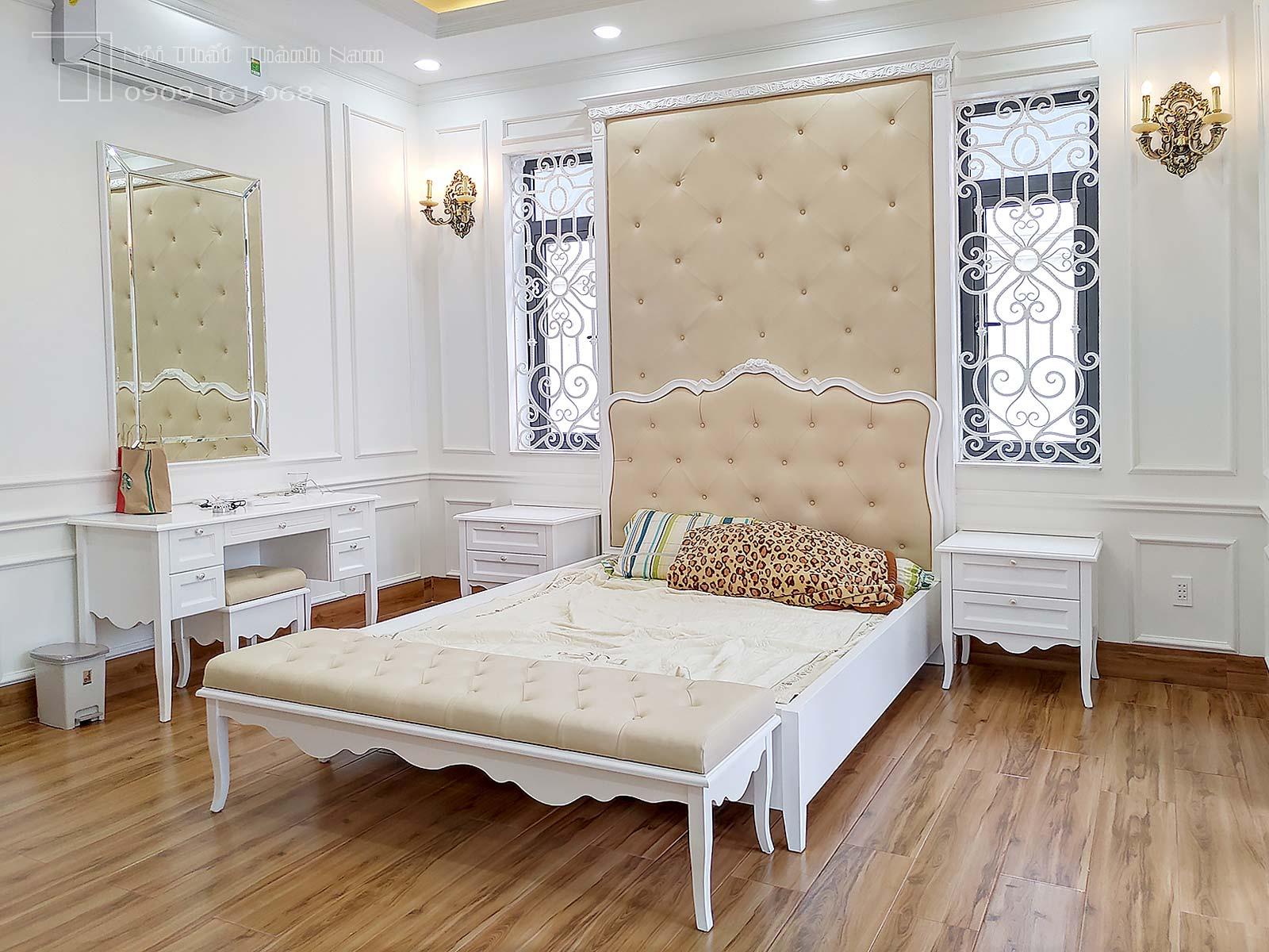 phòng ngủ con gái biệt thự
