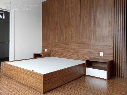 nội thất walnut ấn tượng
