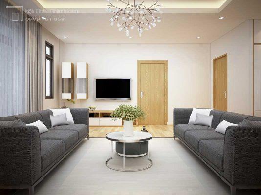 phòng khách hiện đại nội thất biệt thự
