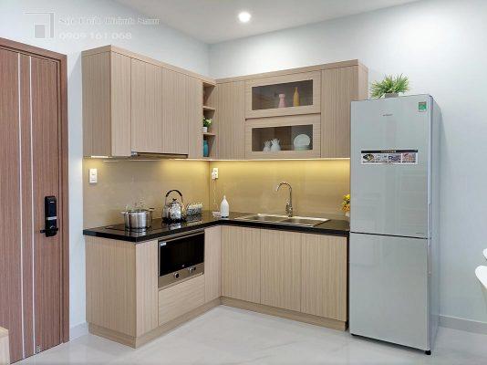 tủ bếp căn hộ 1 phòng ngủ Loveravista Khang Điền