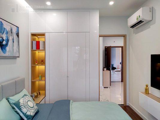 ngủ chính căn hộ 1 phòng ngủ Loveravista Khang Điền