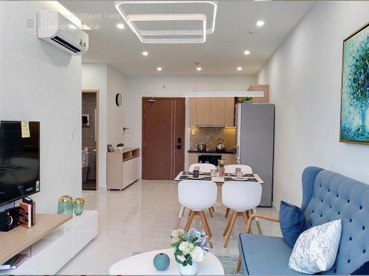 phòng khách căn hộ 1 phòng ngủ Loveravista Khang Điền